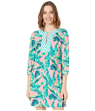 Cabana Life Preppy Palm Tunic Dress Cover-Up (Turquoise Multi) Women