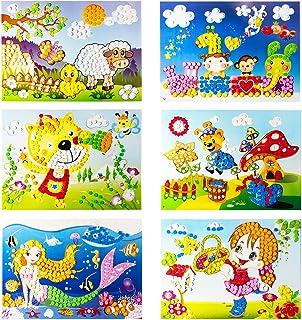 YUESEN Mosaique Autocollante Enfant Kit Artisanal de mosaïques collantes pour Enfants, 6pcs Images séparées d'autocollant ...
