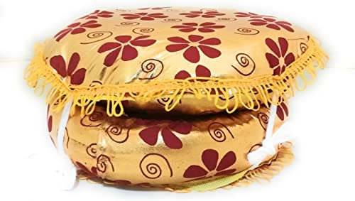 Neha Enterprise Gadi Chumbal Jodi Chamkitabla Ring Pad Multicolor Pack TABLA DAGGA RING SET Musical Instruments Accessories Parts