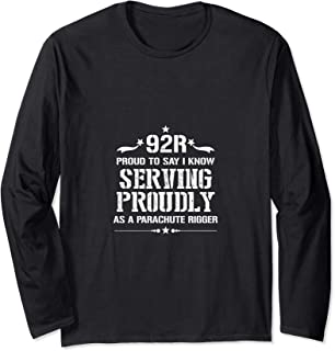 I Am Proud 92R Military & Army Parachute Rigger Long Sleeve T-Shirt