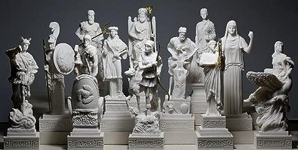 Set 12 Twelve Greek Olympian Gods Pantheon Figure Alabaster Statue Sculpture