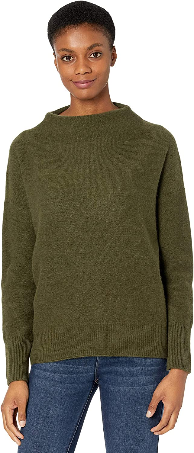 Vince Women's Boiled Cashmere Funnel Neck Pullover