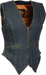 Milwaukee Women's Zippered Denim Vest (Blue, X-Large)
