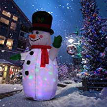 UNIFEEL 4FT Inflatable Snowman for Christmas and New Year Home Indoor and Outdoor Decoration