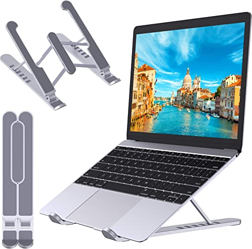 """STOON Laptop Stand Portable Laptop Stand for Desk 6-Levels Adjustable Ventilated Cooling Computer Notebook Stand Riser Compatible with MacBook Air Pro Lenovo Dell and More 10-15.6"""" Laptops"""