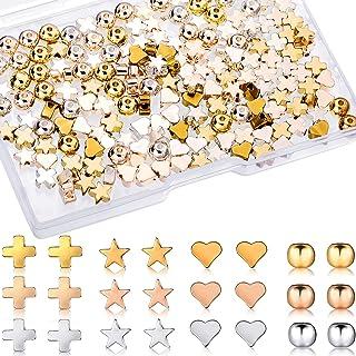 180 Perles en Forme Ronde Colorées Coeur Étoile Mixtes Perles d'Espacement Colorées Breloques d'Artisanat Faites à Main DI...