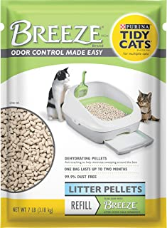 Purina Tidy Cats Litter Pellets, BREEZE Refill Litter Pellets - 7 lb. Pouch - Pack of 4