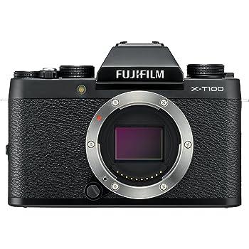 """Fujifilm X-T100 Mirrorless Digital Camera (Black) with 3.0"""" TFT LCD"""