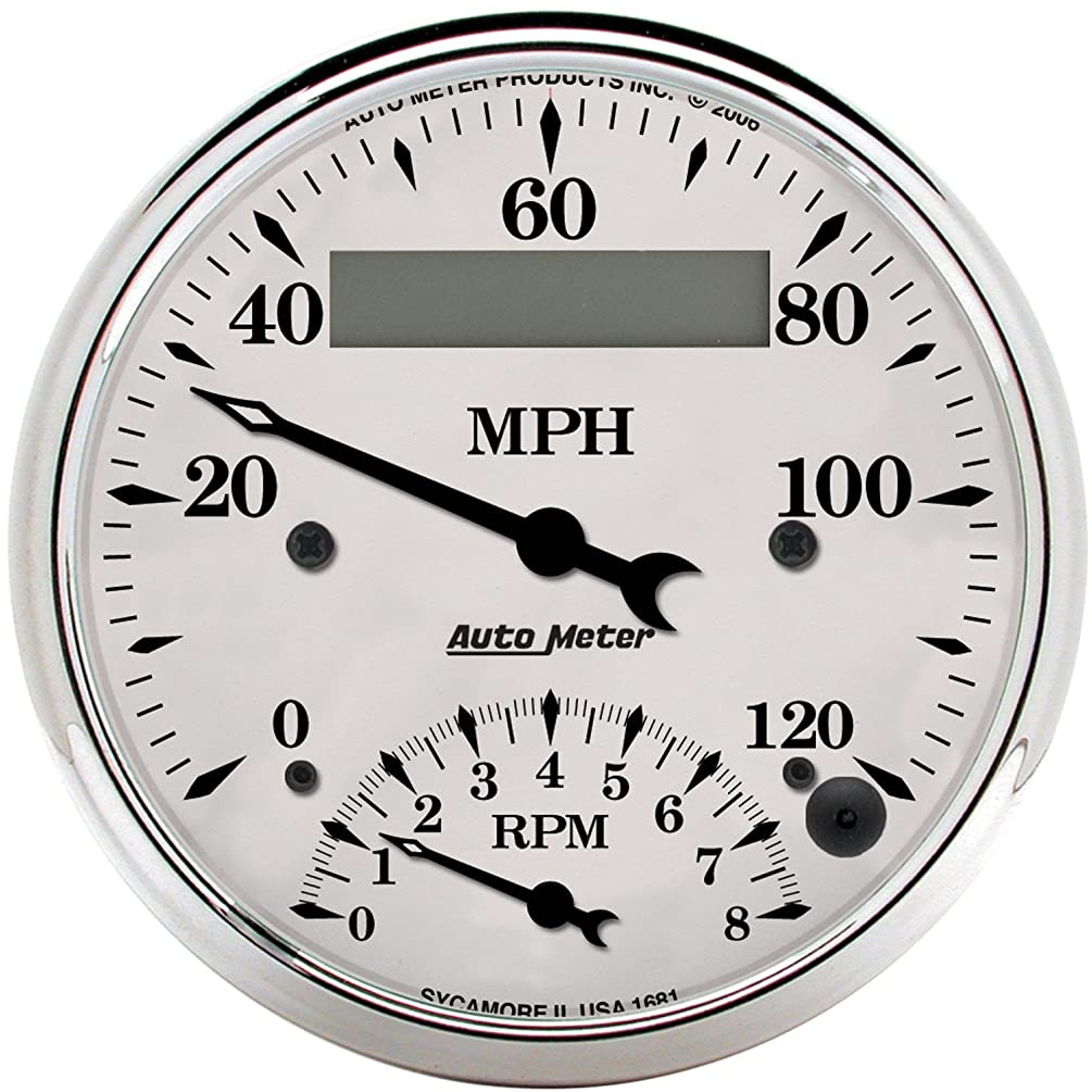Auto Meter 1681 Old TYME White Tach/Speedo Combo