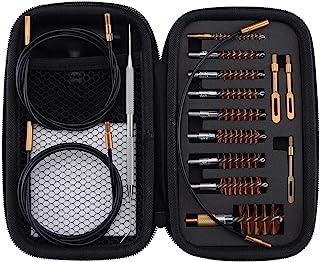 BOOSTEADY Gun Cleaning Kit .17 .22/.223/5.56MM .243 .280 .30 .357/9MM .40 .45 12GA Multi-Caliber Phosphor Bristle Bore Bru...