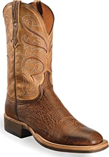 Men's Handmade Light Lance Smooth Ostrich Boot Square Toe - Cx1028.W8