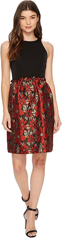 Tahari by ASL Fit and Flare with Metallic Skirt
