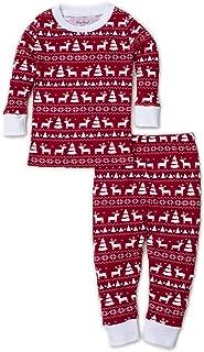 Kissy Kissy Unisex-Baby Infant Christmas Deer Print Long Pajamas Set
