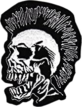 Graphic Dust Black Colorful Sugar Skull Embroidered Iron on Patch Calavera Good Luck Applique Sign Symbol Logo Cute Happy Death Lucky Spirit Decoration Coco Day of The Dead Backpack DIY Costume