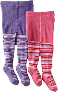 Country Kids Baby Girls' Lollipop Stripe 2 Pair Tights