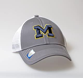 Michigan Wolverines Grey Adjustable Hat - One Size Fits Most
