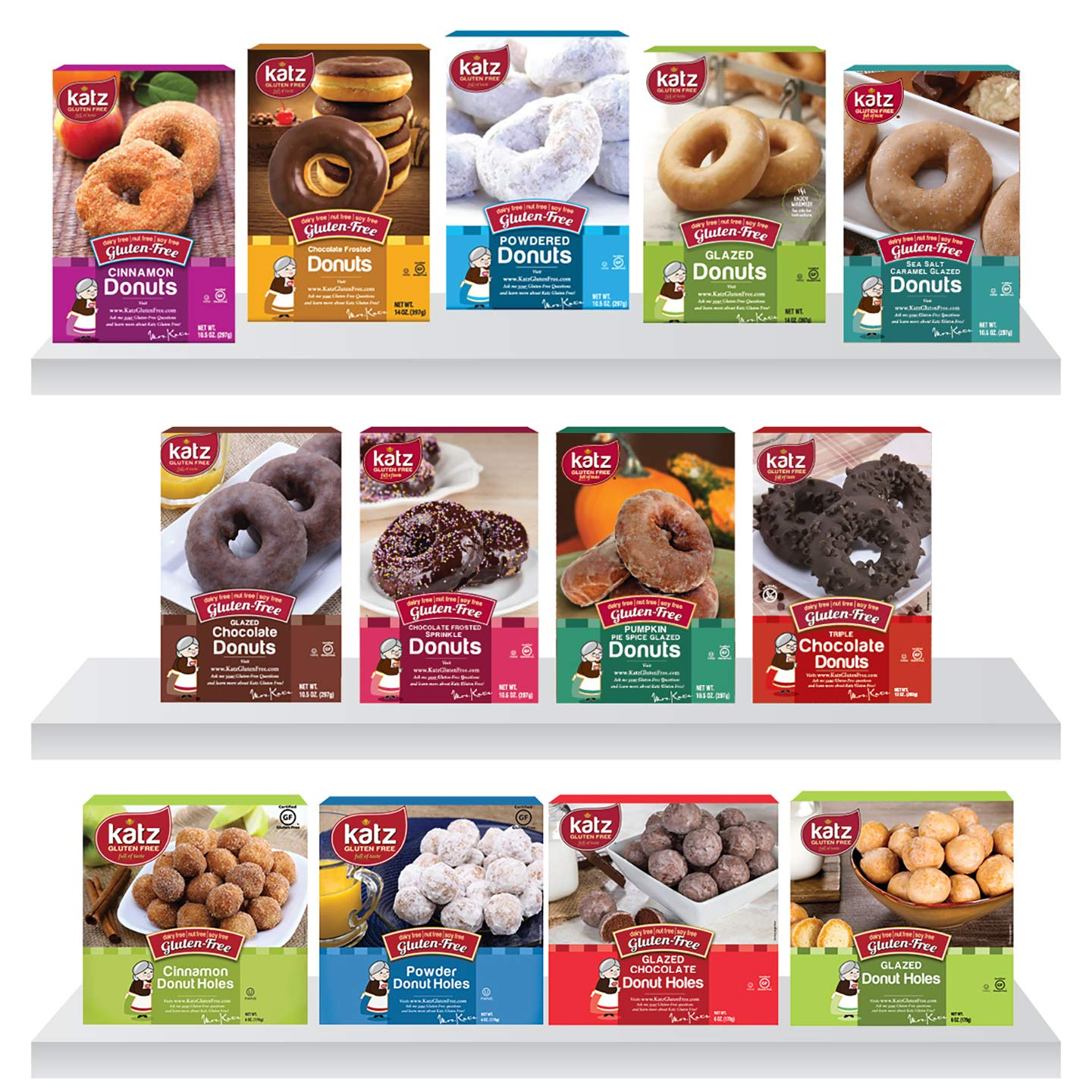 Excellence Katz Gluten Free Donut Variety Pack 8.16 Max 60% OFF Pounds Dairy N