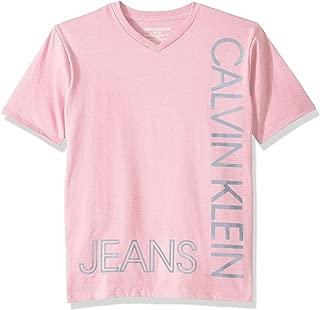 Calvin Klein Boys' Big New Icon V-Neck Short Sleeve Tee Shirt,