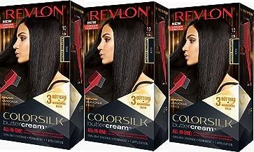 Revlon Colorsilk Buttercream Hair Dye, Black, Pack of 3