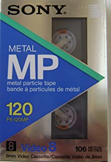 Sony 120 Metal MP 8mm Video Cassette Tape - Metal Particle Tape - 106 meters NTSC - P6-120MP