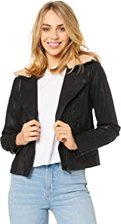 IMONNI Women's Stevie Vegan Leather Jacket