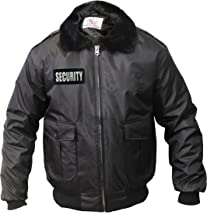 Watch-Guard Bomber Jacket with Reflective Security ID (Black)