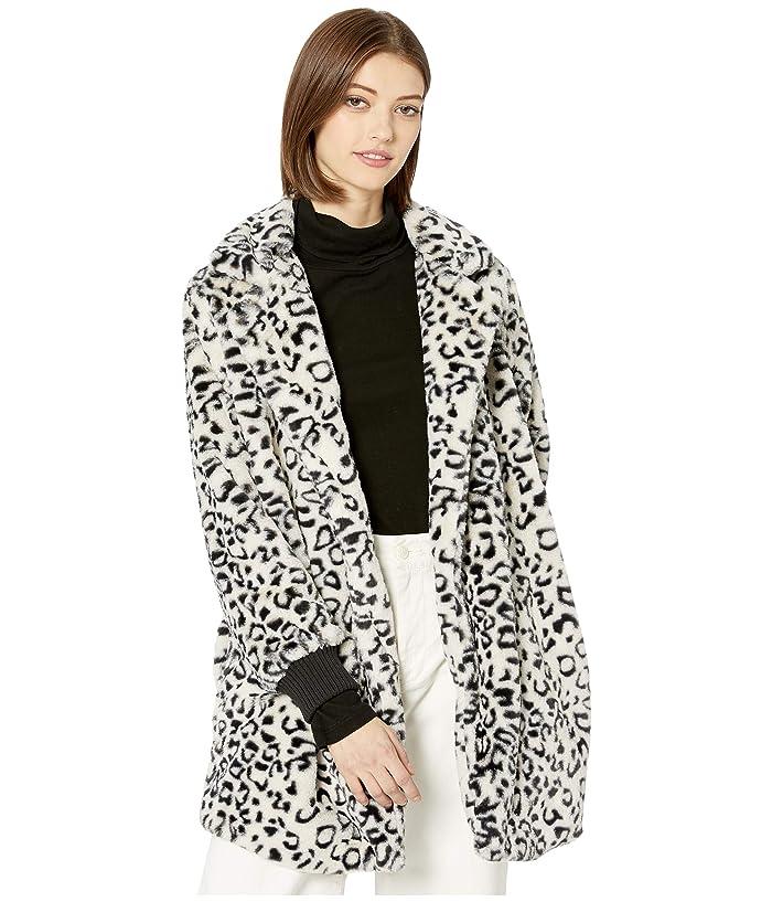 Beste Jack by BB Dakota Top Cat Faux Leopard Fur Coat with Rib Cuff FQ-83
