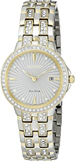 Women's 'Silhouette' Quartz Stainless Steel Casual Watch (Model: EW2344-57A)