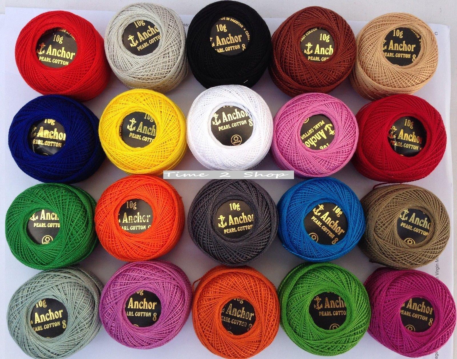 Anchor - 40 ovillos de hilo de algodón perlado para hacer ...