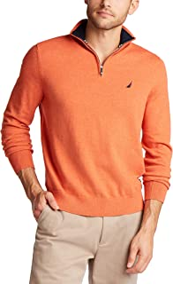 Nautica Men's Navtech Quarter-Zip Sweater