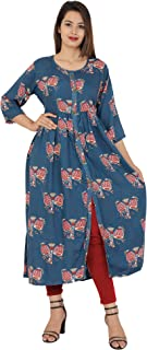 Red Marlin Polyester Kurta (Ae105-S_Blue_Large)