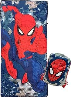 Jay Franco Marvel Spiderman Spidey Dots Slumber Sack - Cozy & Warm Kids Lightweight Slumber Bag/Sleeping Bag (Official Marvel Product)