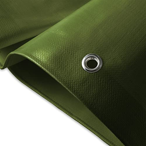 casa pura® Heavy Duty Tarpaulin, High Density Woven Polyethylene and Double Laminated - 2x3m, 180g/m², Blue/Green - 100% Waterproof and UV Protected