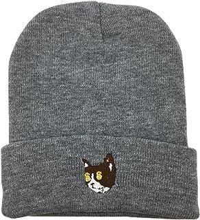 CZZYTPKK SHOP Golf Wang Warm Winter Hat Knit Beanie Skull Cap Cat Embroidered