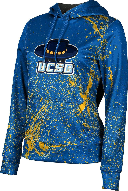 ProSphere University of California Santa Barbara Girls' Pullover Hoodie, School Spirit Sweatshirt (Splatter)