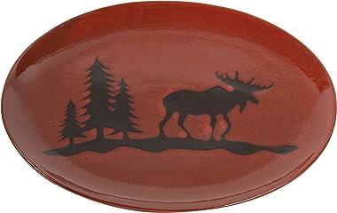 DEI Stoneware Moose Platter, 14-Inch