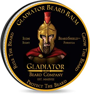 Gladiator Beard™ Conditioning Balm (2.6 oz.) – Gladiator Sized 2.6 oz, 30% More Than Most Beard Balms – Ultra-Rich BeardShield® Formula is Designed to Strengthen, Tame and Condition Your Beard