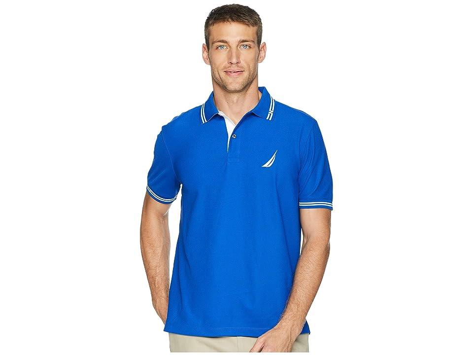 Nautica Short Sleeve Navtech Performance Polo (Bright Cobalt) Men