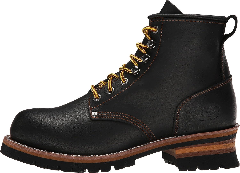 Monarquía lector Analista  Amazon.com: Skechers USA Cascades Logger Bota para hombre: Shoes
