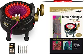 New Improved Version Of addi Express Professional Knitting Machine Extended Edition With Improved Row Counter, Pattern Book, Express Hook, Replacement Needles and 2 Stopper