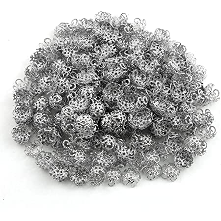 UNICRAFTALE 200pcs Stainless Steel 5-Petal Flower Bead Caps and 290pcs 5 Sizes 3//4//5//6//8mm Round Spacer Beads Stainless Steel Loose Beads