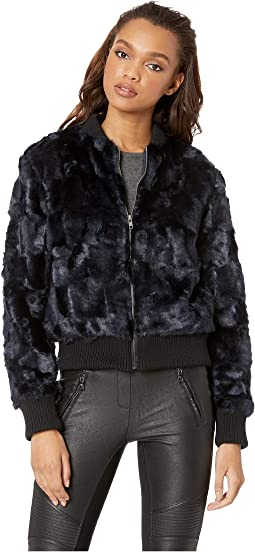 Amy Faux Fur Bomber Jacket