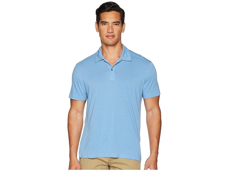 Agave Denim Cape Town Short Sleeve Polo (Silver Lake Blue) Men
