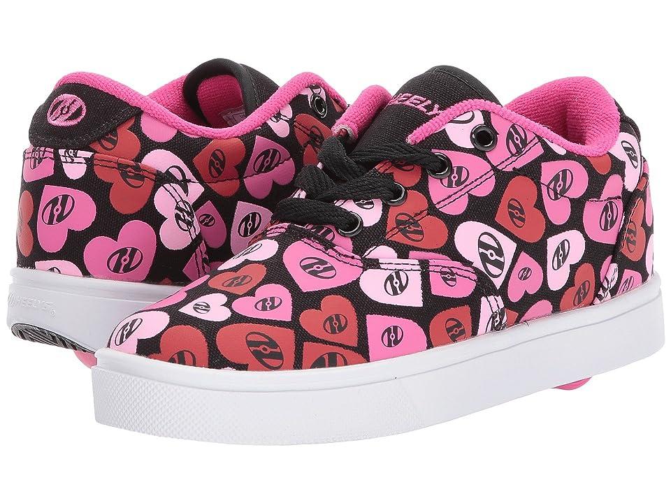 Heelys Launch (Little Kid/Big Kid/Adult) (Black/Multi Pink/Hearts) Kids Shoes