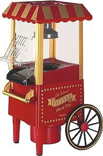 comprar comparacion SOGO SS-11330 Palomitera Carrito Antiguo Aire Caliente Sin Aceite, Plastico, Rojo Vintage, 41.4 x 26.2 x 21 cm