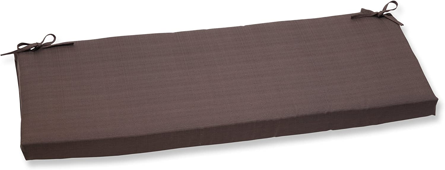 Pillow Perfect Outdoor Forsyth Chocolate Bench Cushion
