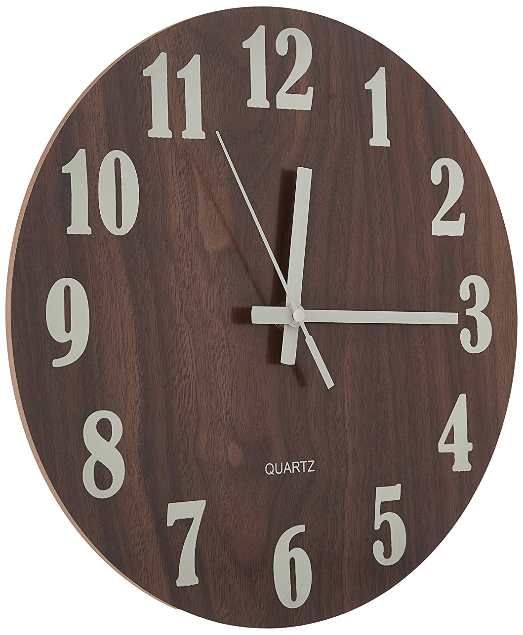 仲間給料致命的壁掛け時計 木製 サイレント 連続秒針 夜光 大文字 アナログ クロック 掛け時計 インテリア
