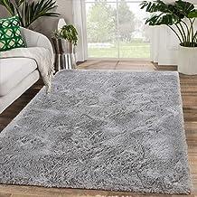 Zareas Modern Furry Area Rugs for Living Room 4x6 Grey Shag Rug for Bedroom Fluffy Soft Fuzzy Carpet for Kids Room Girls B...
