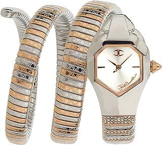 Just Cavalli Women's Quartz Watch, Analog Display and Stainless Steel Strap JC1L112M0055