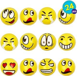 24pcs Pelota Anti Estrés   Bolas Divertidas De Emoji